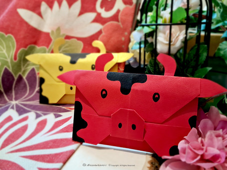 Moo...Moo...Kow Origami CNY Red Packet