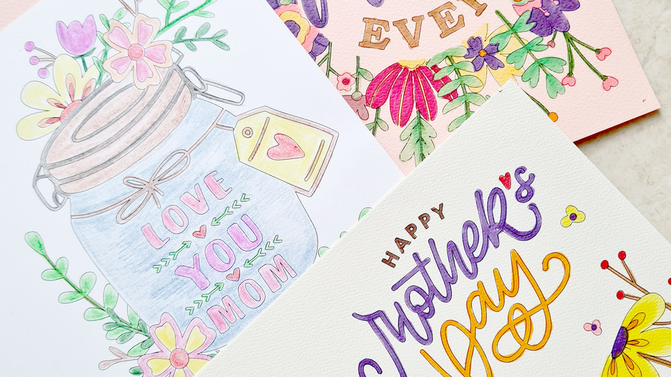 Mother's Day Coloring Card Printable Template