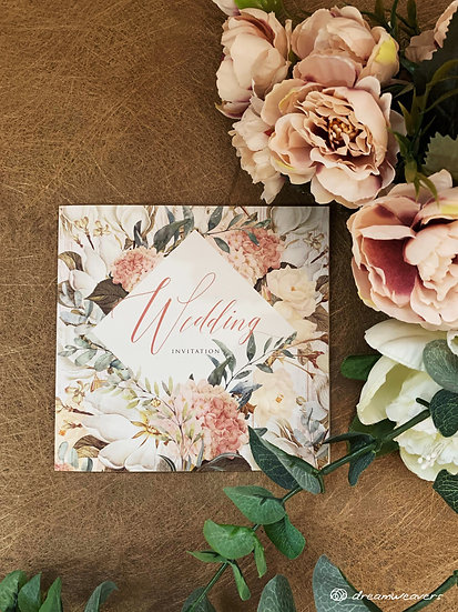 Magnolia Flourish Invitation Card (Blank)