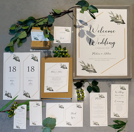 Modern Sage Stationery Suites [Premium Set]