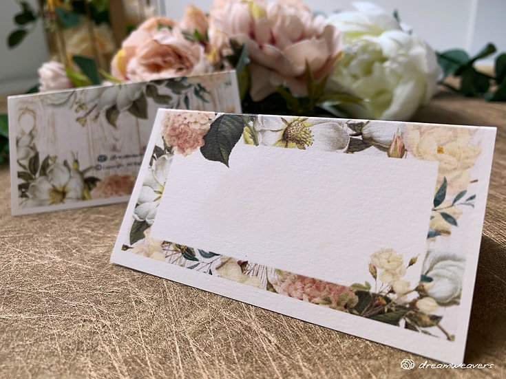 Magnolia Flourish Place Card (Blank)