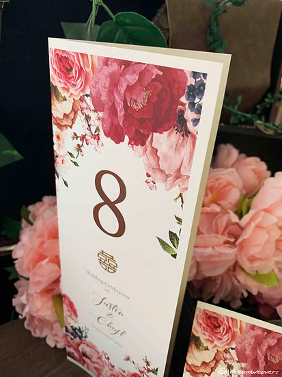 Marsala Blush Table Number