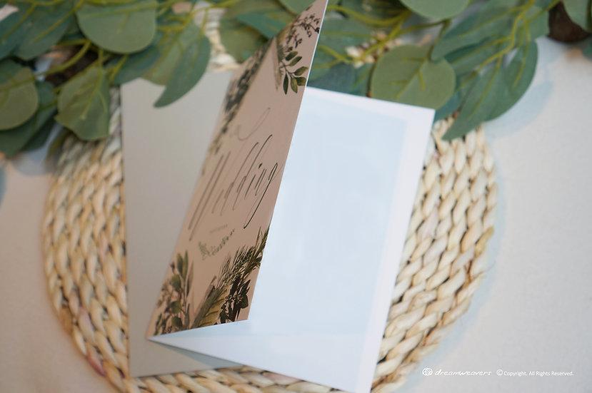 Bliss Thyme Invitation Card (Blank)