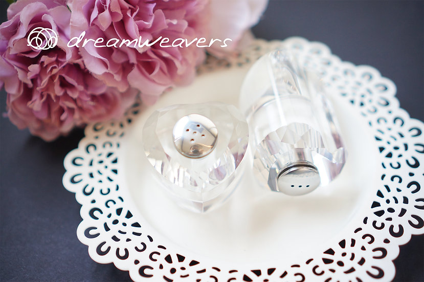 Crystal Salt & Pepper Shaker Set