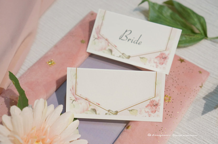 Rose Quartz Place Card (Blank)
