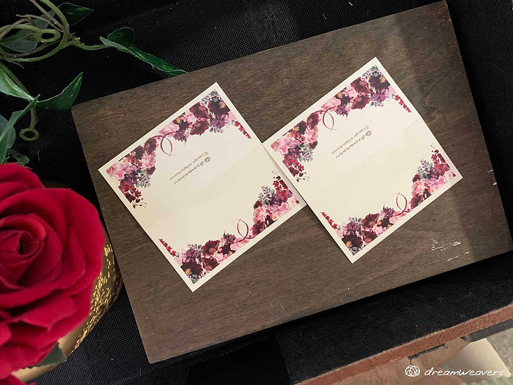 Wine & Dine Bloom Place Card (Blank)