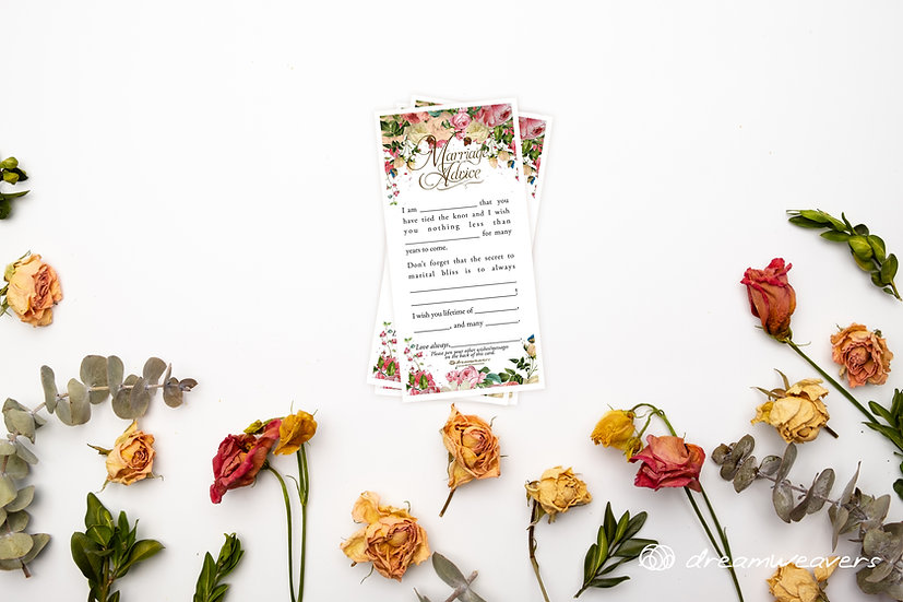 Vintage Garden Marriage Advice Cards [50pcs]