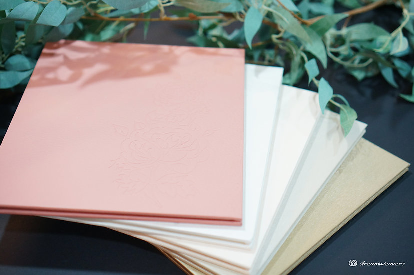 Secret Garden Square Accordion Guestbook