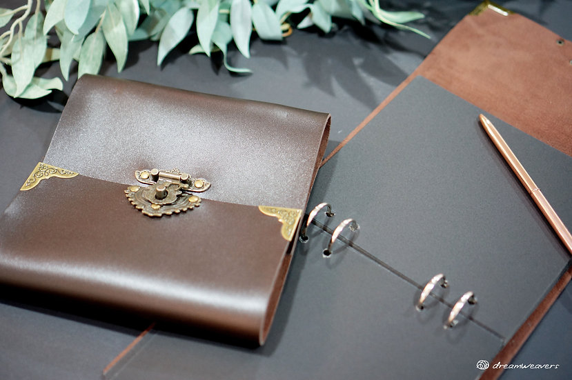 Classic Leather Ring Binder Guestbook