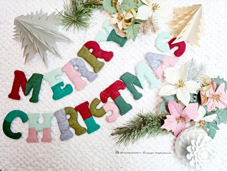 Yarn Wrapped Christmas Ornaments & Letters