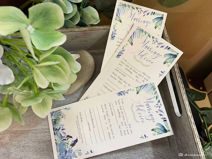 Blue Birds Marriage Advice Card
