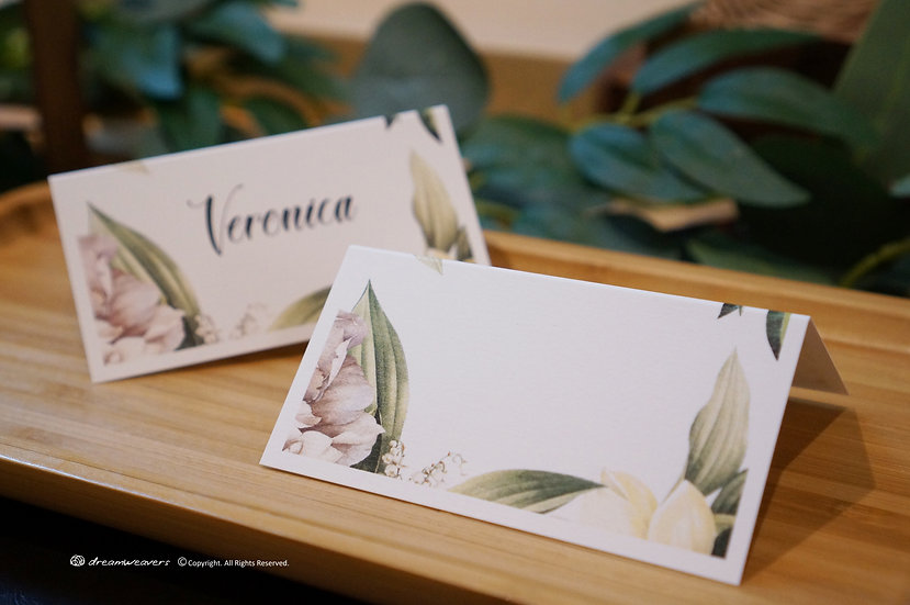 Element of Emotions Place Card (Blank)