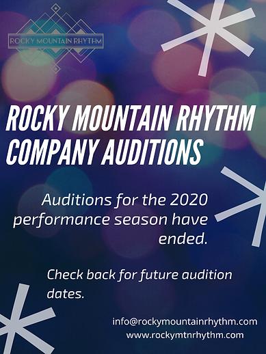 Rocky Mountain Rhythm company auditions.