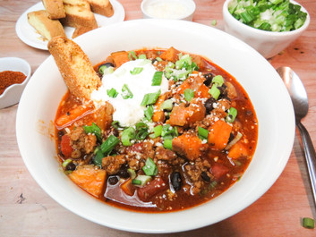 Southern Sweet Potato & Black Bean Chili
