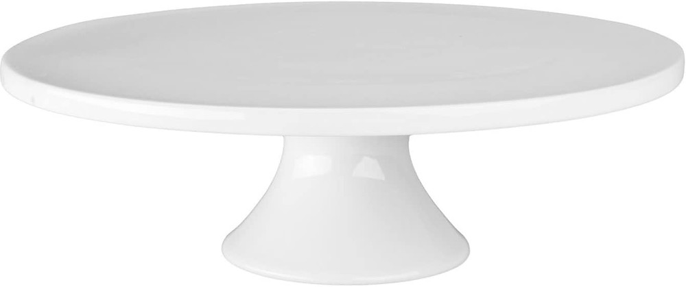 White porcelain cake stand.