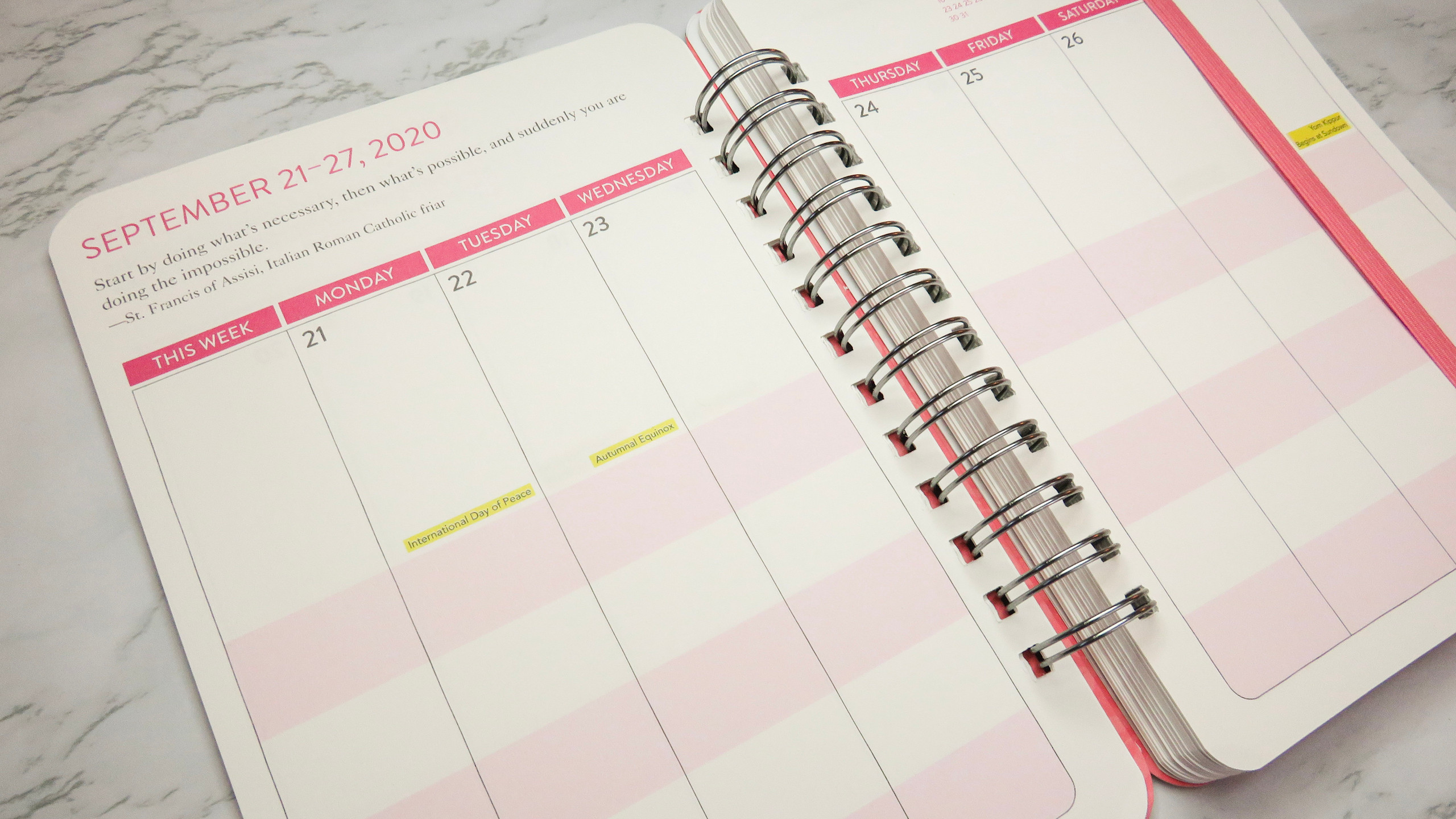 Weekly planner view of the Do It All Weekly Planner