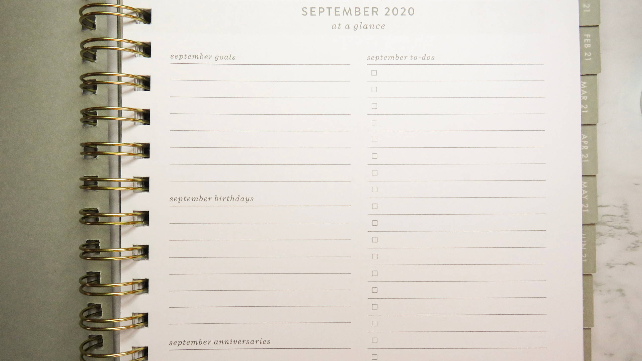 Monthly overview page for the Fringe Studio Planner