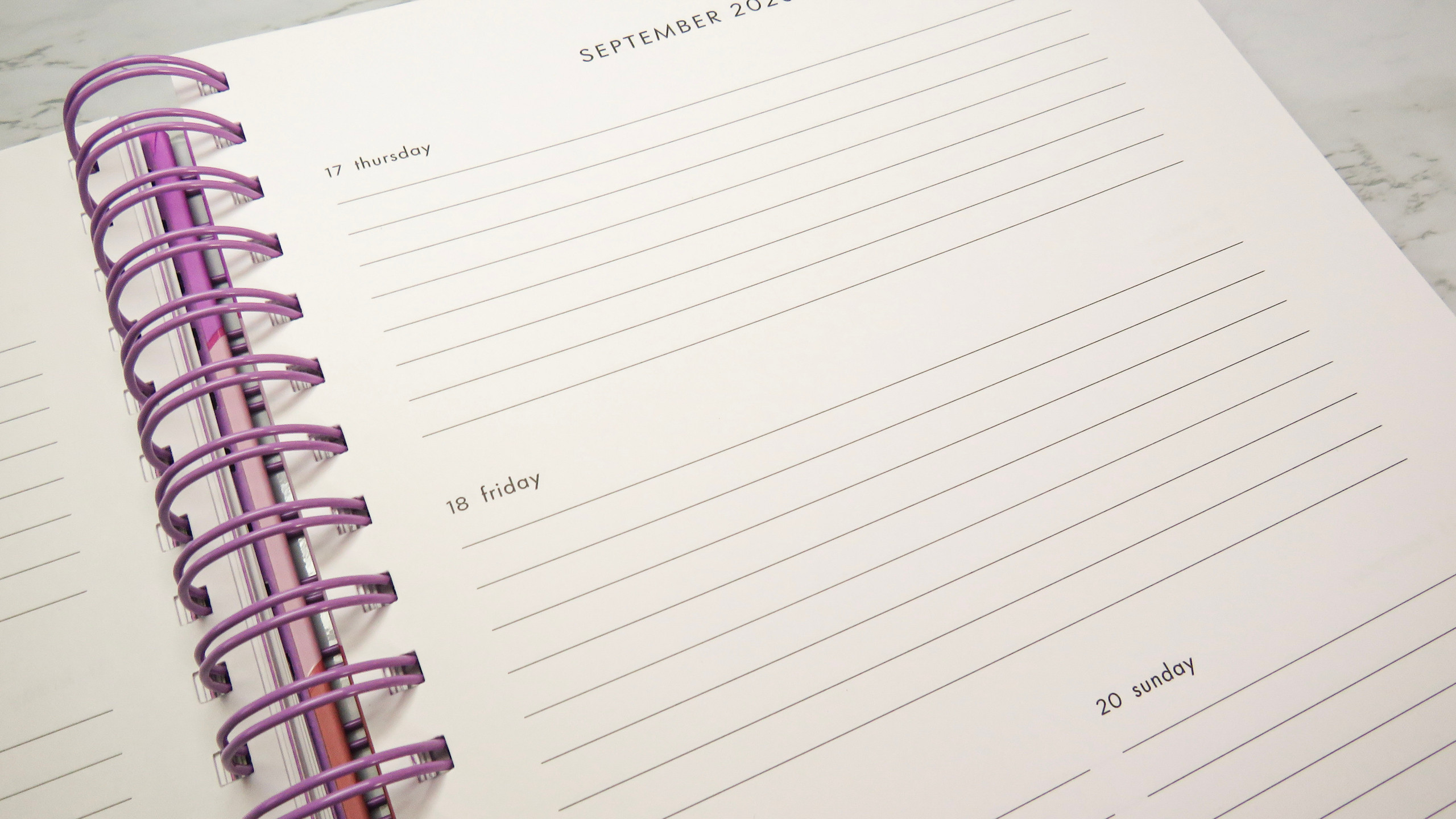 Weekly page view of the Kate Spade Monthly Planner