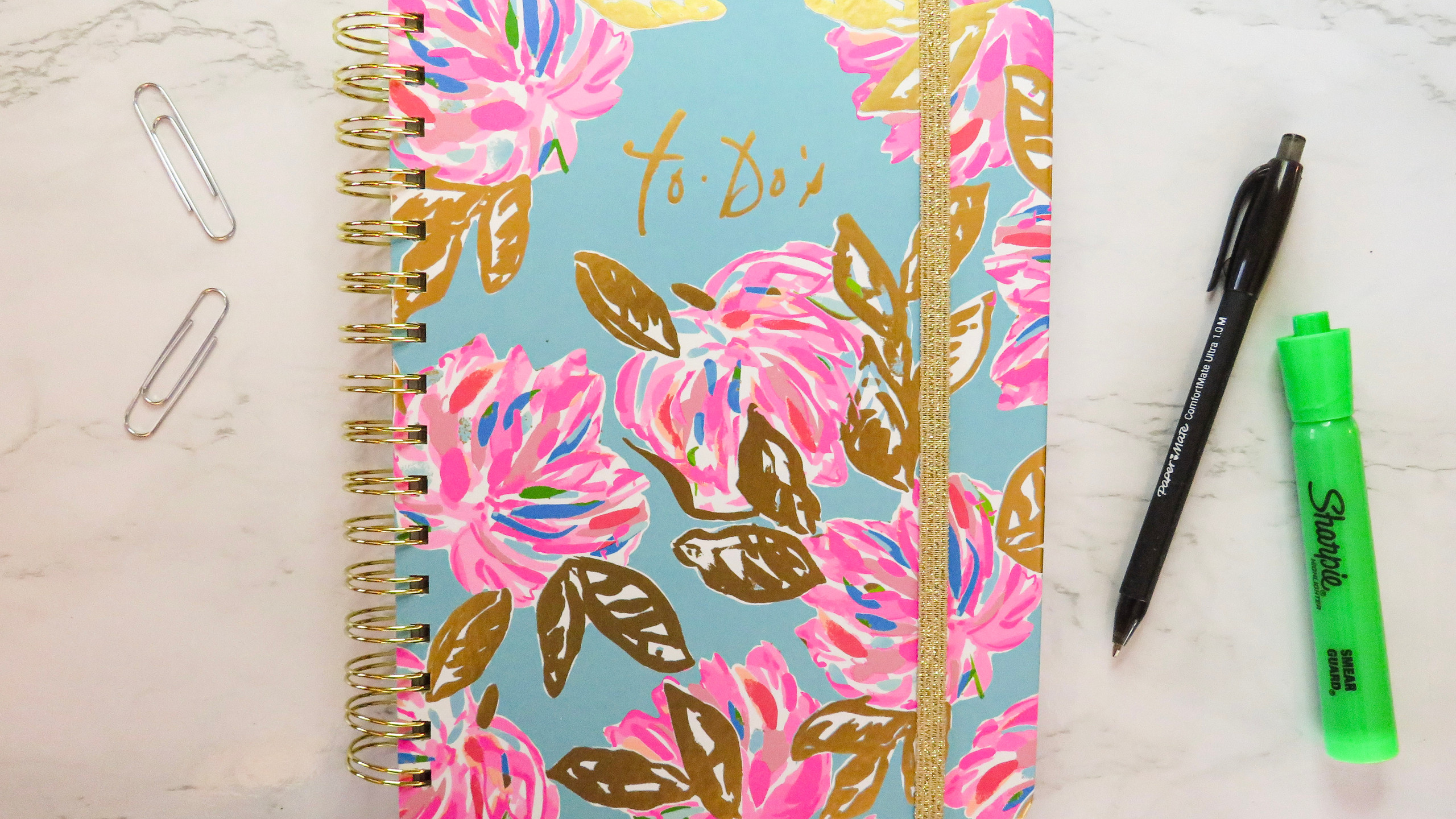 Lilly Pulitzer Undated To-Do Planner in Pink, Blue and Gold