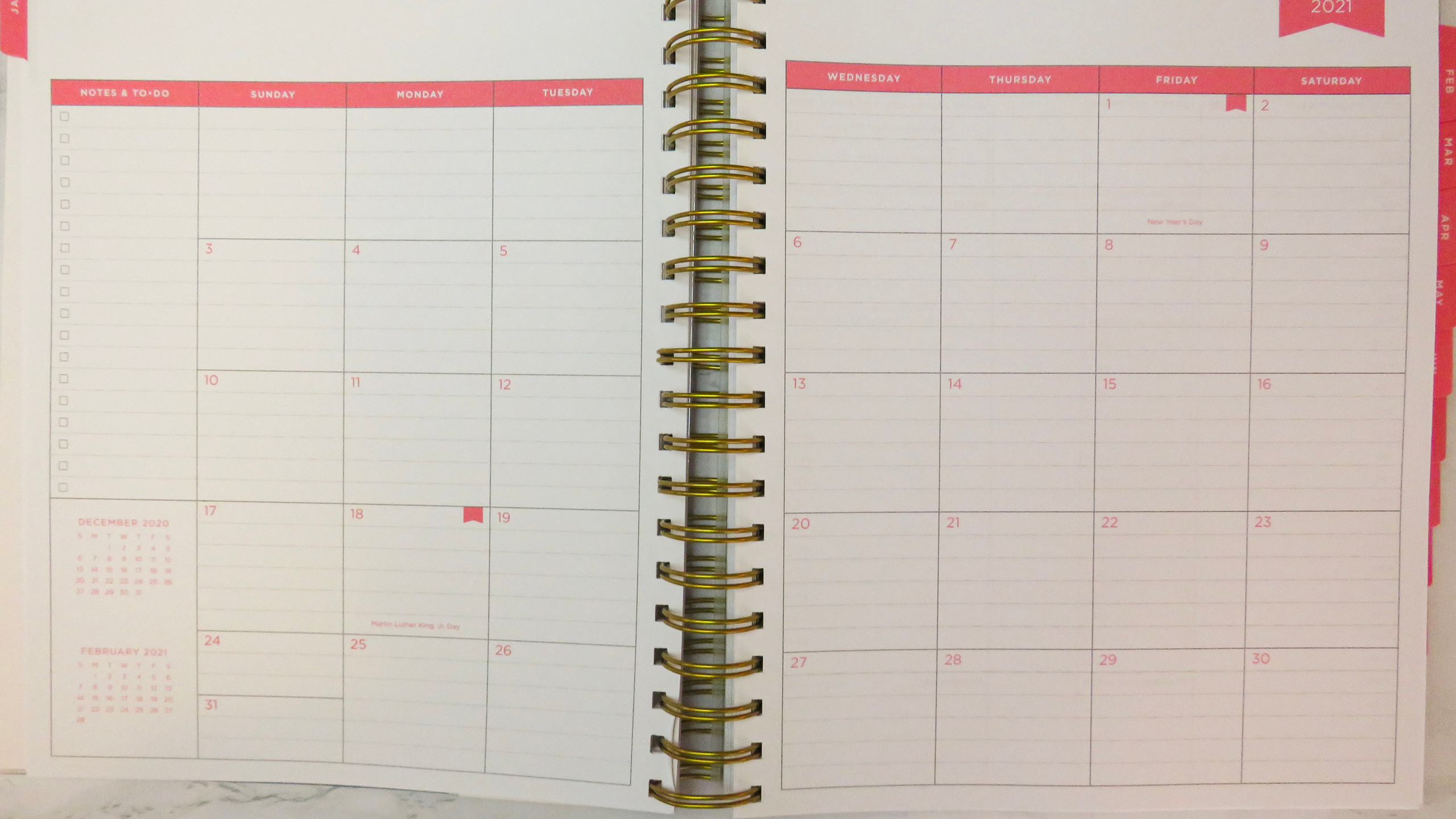 Monthly calendar view in Day Designer