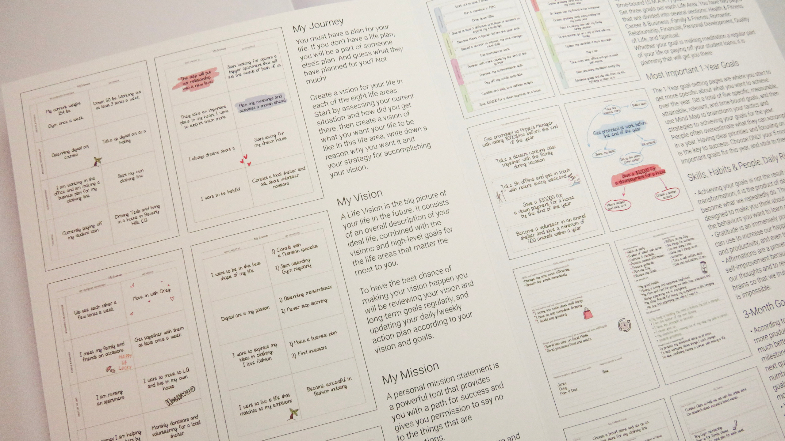 Life planning section booklet that tells you how to use the prompts in the Legend Planner PRO