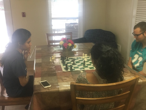 Sunday afternoon fun with chess at Annandale Village