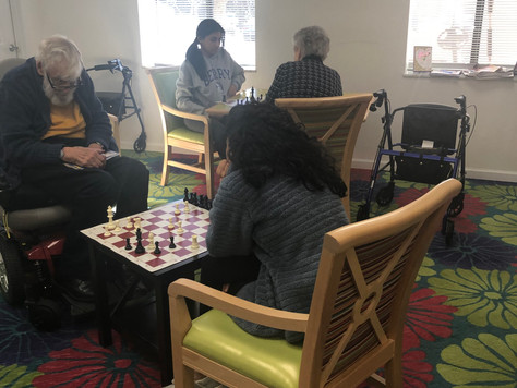 Delmar gardens welcomes Chess for a Cause volunteers