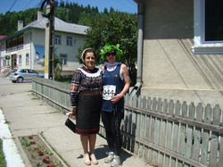 Tereza with a local lady