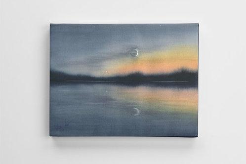 Moonrise in Alqonquin Canvas Print