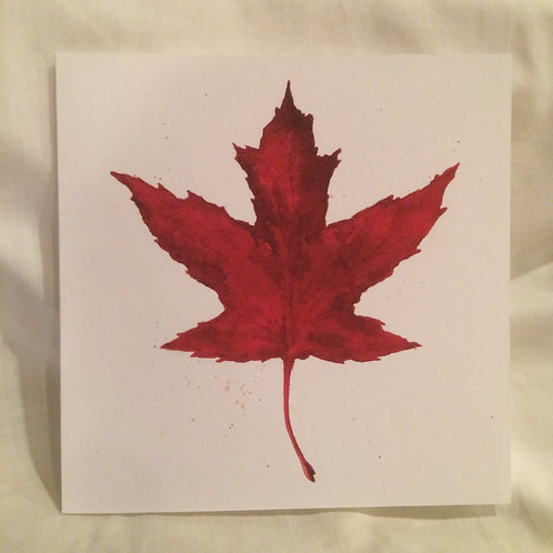 Read Leaf 6x6 inch Notecard