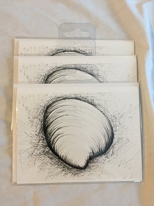 Mattsterpieces Butter Clam Shell Note Card Bundle