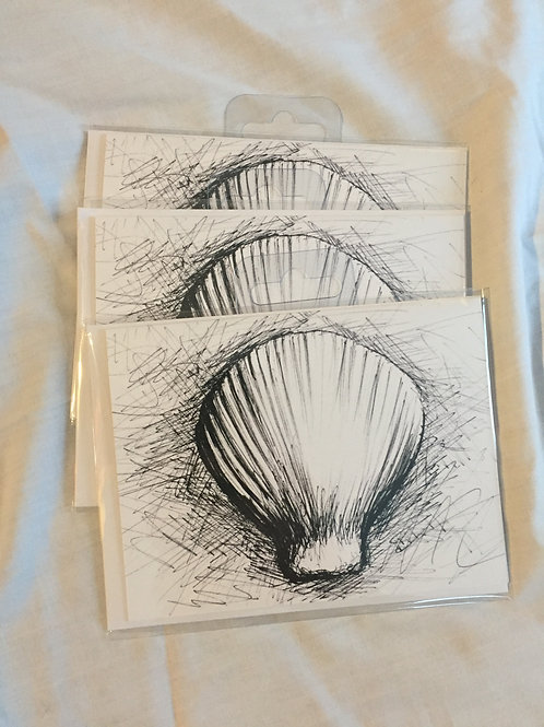 Mattsterpieces Cockle shell Note Card Bundle