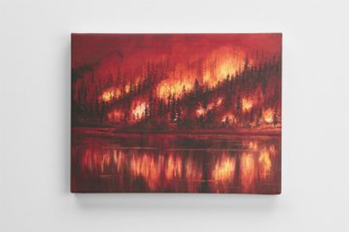 Forest Fire Canvas Print