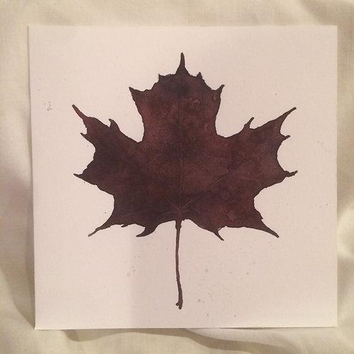 Purple Leaf 6x6 inch Notecard
