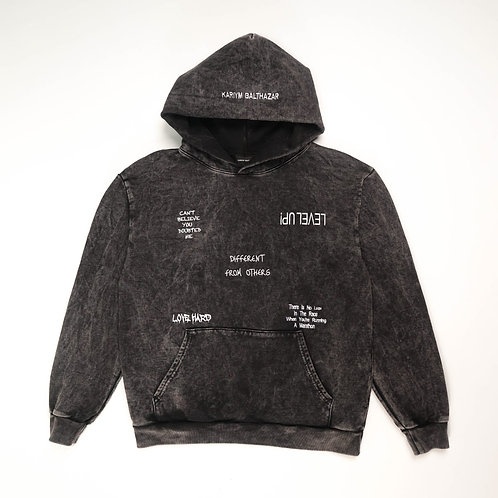 Quote Detail Hoodie- Mineral Wash