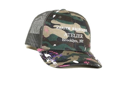 Atelier Paint Splatter Trucker  Hat