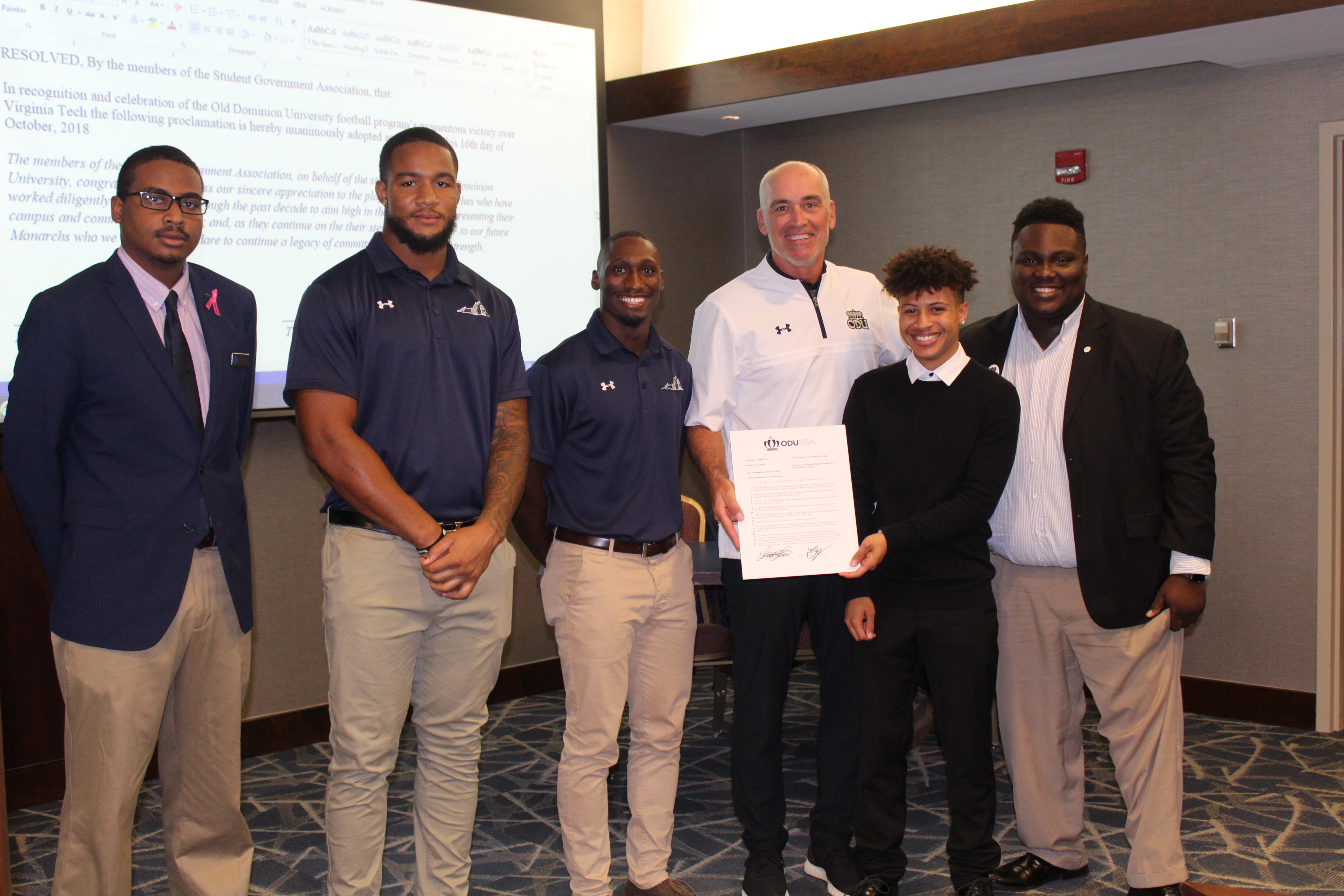 ODU Football Team Recognition | ODU SGA | Old Dominion University