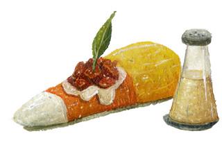 Candy Corn Bruschetta