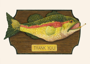 Fish on Plaque (Thank You Card)