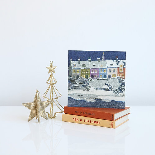 Alnmouth in Snow Christmas card