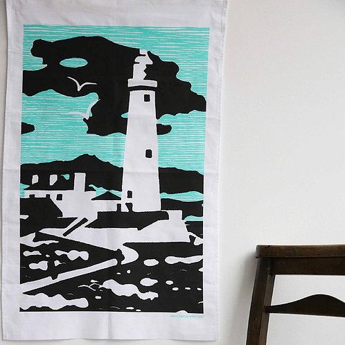 St Mary's Lighthouse Tea Towel