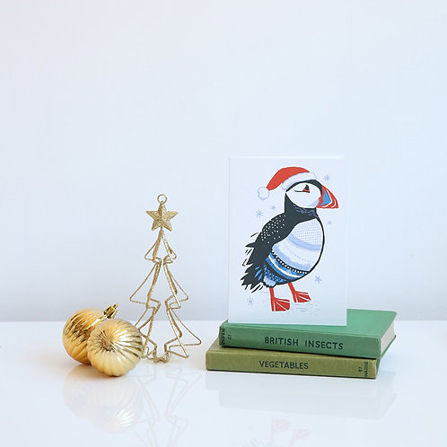 Puffin Christmas card