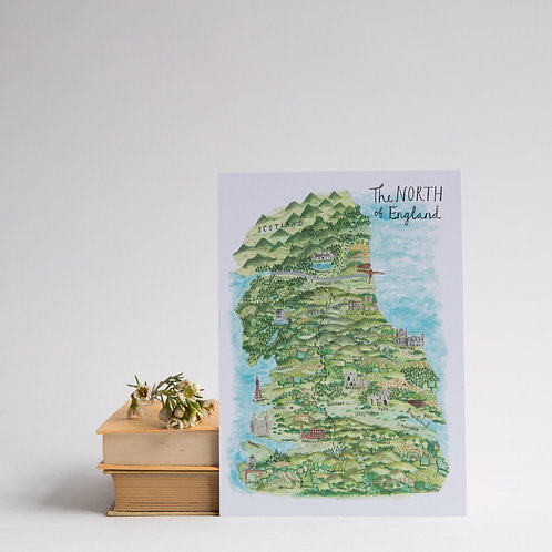 The North of England postcard