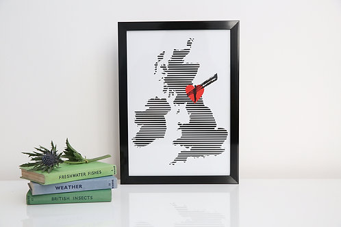 Love of the North A4 unframed print