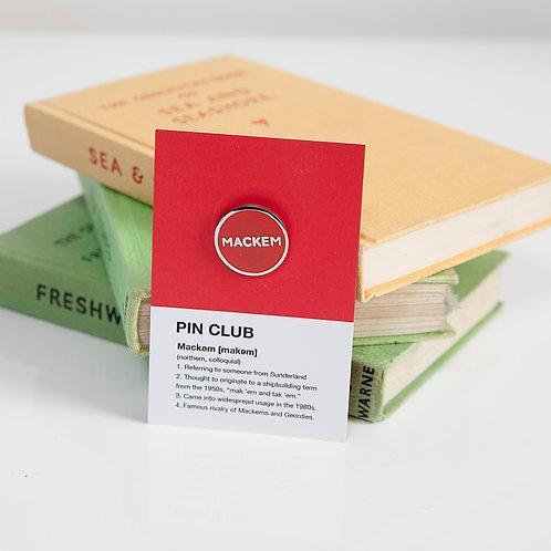 Mackem, Sunderland pin badge