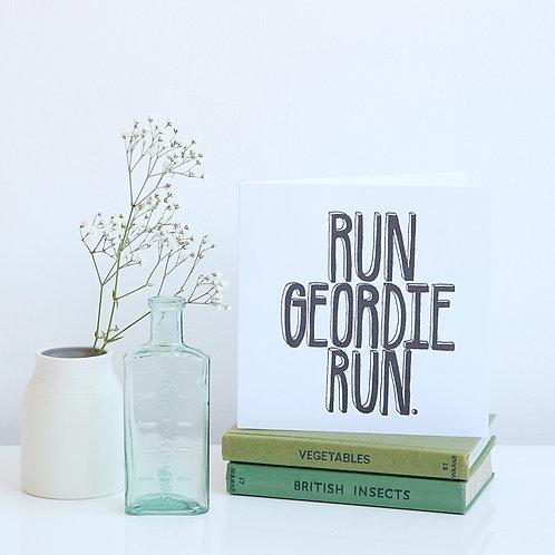 Run Geordie Run Great North Run card