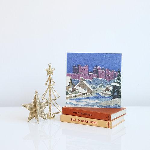 Bamburgh in Snow Christmas card