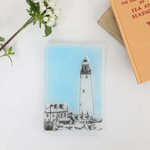St Mary's Lighthouse Glass Trinket Dish