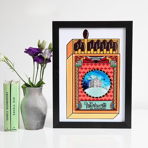 Warkworth Matchbox A4 unframed print