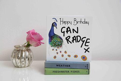 Happy Birthday - Gan Radge card